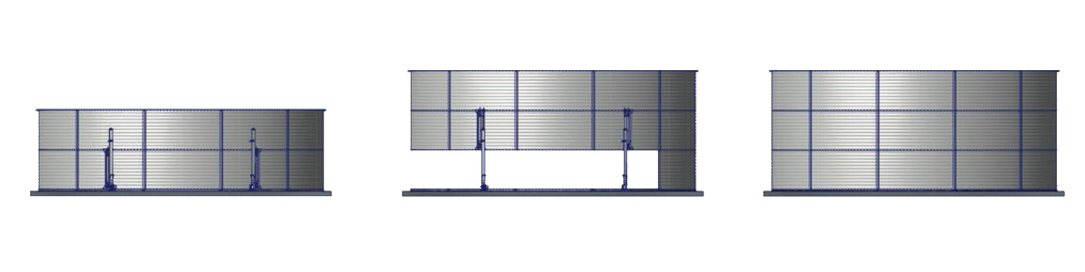Ładowarka Podwyższanie zbiorników stalowych